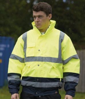 WD033 Dickies Hi-Vis Two Tone Pilot Jacket